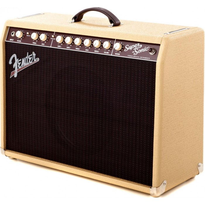 jual fender super sonic 22 22w 1x12 tube guitar combo amp. Black Bedroom Furniture Sets. Home Design Ideas
