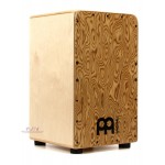 Cajon WCP100MB Meinl Percussion Woodcraft Professional Series Cajon - Makah Burl Frontplate