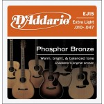 D Addario EJ15 Phosphor Bronze Extra Light Acoustic Strings