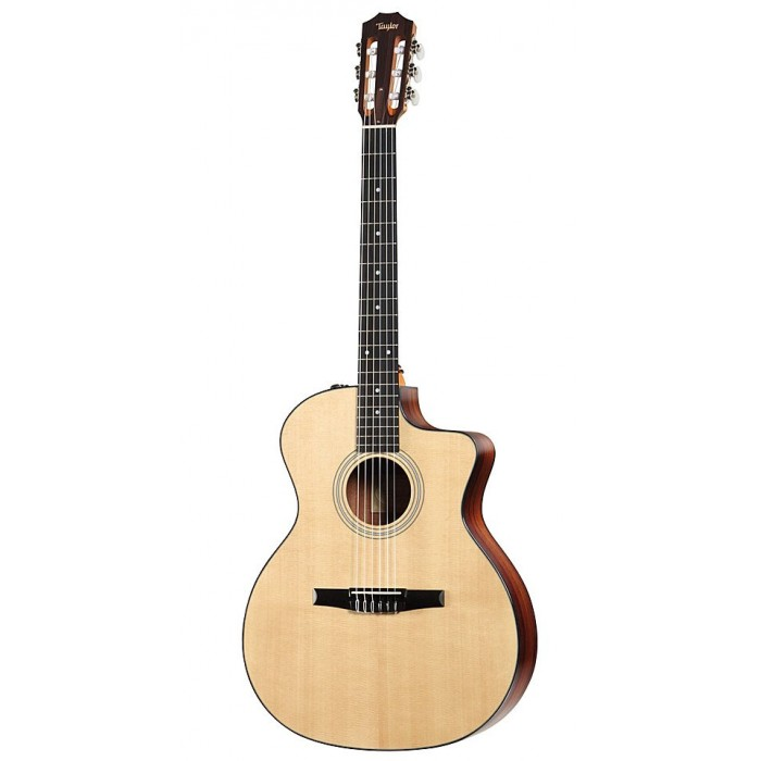 Taylor 214ce N Grand Auditorium Nylon String Acoustic Electric Guitar
