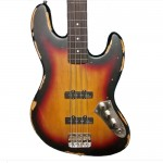 Vintage V74MRJP Icon Fretless Electric Bass Sunburst