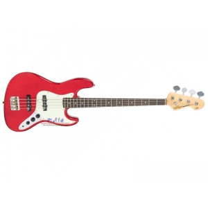 Vintage VJ74CAR Candle Apple Red Electric Bass