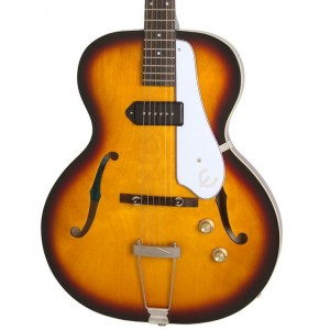 Epiphone Inspired by 1966 Century Archtop Electric Guitar, Aged Gloss Vintage Sunburst