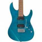 Ibanez MM1-TAB Martin Miller Signature Series Electric Guitar - Transparent Aqua Blue