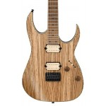 Ibanez RGEW521MZW-NTF Zebrawood Electric Guitar - Natural Flat