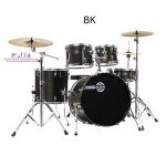 Dixon SK-522 Sparks Series Drum Set (BK, GM, & Cyclone Red) include Cymbal + Hardware