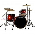Ludwig Element Icon Birch LCB422EXS 4-Piece Drum Kit in Redburst