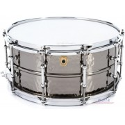 "Ludwig LB417K Black Beauty Snare Drum - 6.5"" x 14"" Hammered Tube Lugs"