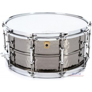 """Ludwig LB417K Black Beauty Snare Drum - 6.5"""" x 14"""" Hammered Tube Lugs"""