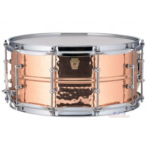 "Ludwig LC662K Copperphonic Snare Drum - 6.5"" x 14"" Hammered Imperial Lugs"