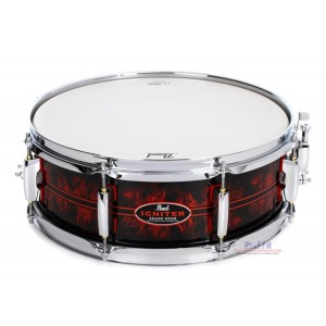 """Pearl CC1450S/C 14""""x5"""" Casey Cooper Igniter Red Gasket Snare Drum"""
