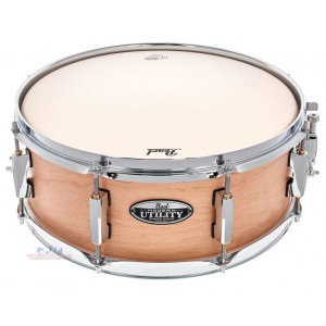"""Pearl MUS1455M 14""""x5.5"""" Modern Utility Snare Drum (Matte Natural-Satin Black-Ice Blue Oyster)"""