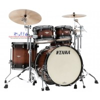 Tama Starclassic Maple ME42TZSV-TBV 6-piece Shell Pack - Tobacco Sunburst Movingui - Chrome