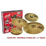 "Paiste PST 3  Universal Cymbal Set + 14"" Crash"