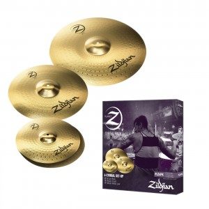 "Zildjian Planet Z 3-piece Cymbal with Free 10""+18"" Crash."