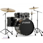 Sonor AQ1 5-Piece Drum Set (Black & White)