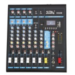 Soundking KG08 8-input Professional Audio Mixing Console with MP3/USB/SD Audio Recording