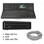 Midas M32 LIVE Digital Mixer + Paket DL32 + Cable Cat6 75m