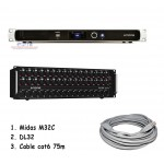 Midas M32C Digital Rackmount Mixer + Paket DL32 + Cable Cat6 75m
