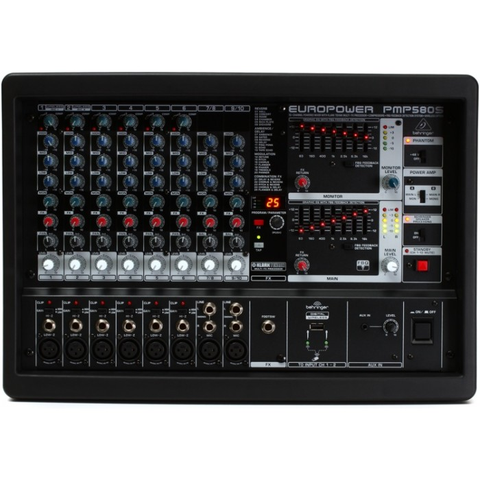 jual behringer europower pmp580s 500w powered mixer. Black Bedroom Furniture Sets. Home Design Ideas