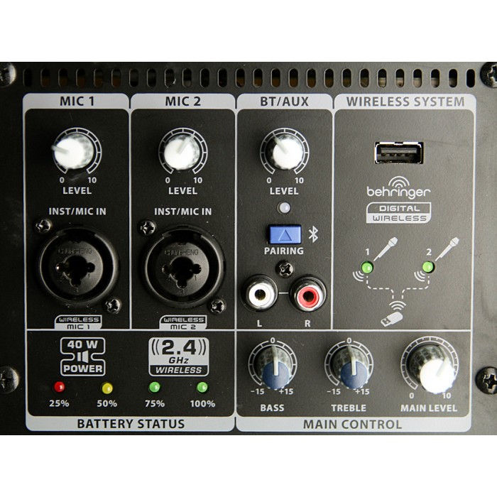 Mpa Bt Pro Panel X on 4 Channel Portable Pa System
