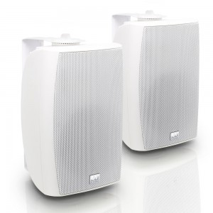 "LD Systems Contractor CWMS 52 B 5.25"" 2-way Wall Mount Speaker White (pair)"